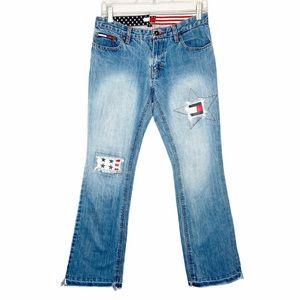 Vintage Tommy Hilfiger Y2K 2001 red white & blue